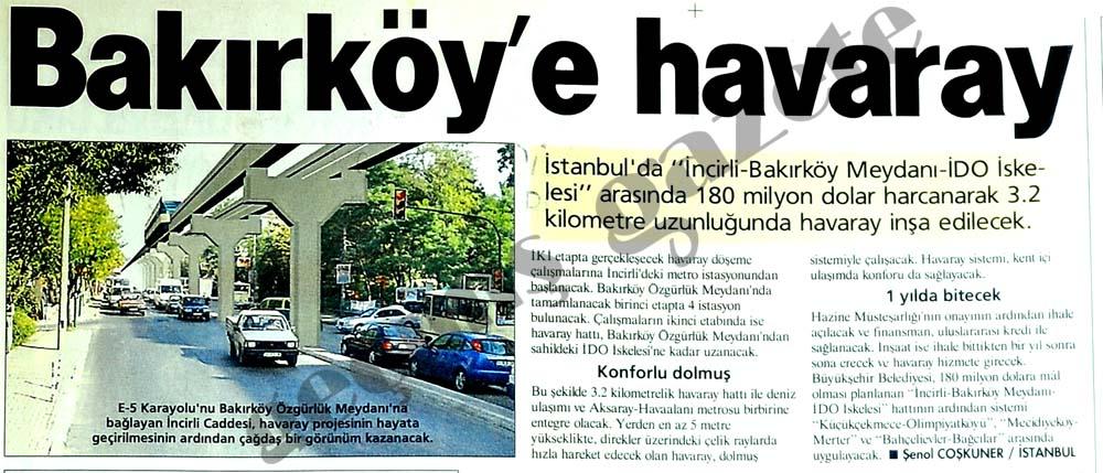 Bakırköy'e havaray