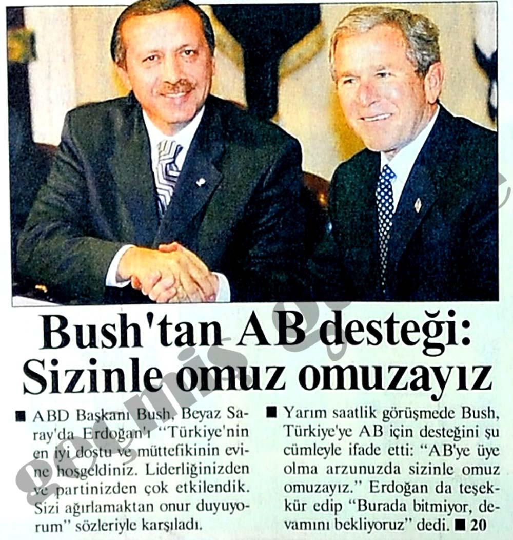 Bush'tan AB desteği: Sizinle omuz omuzayız