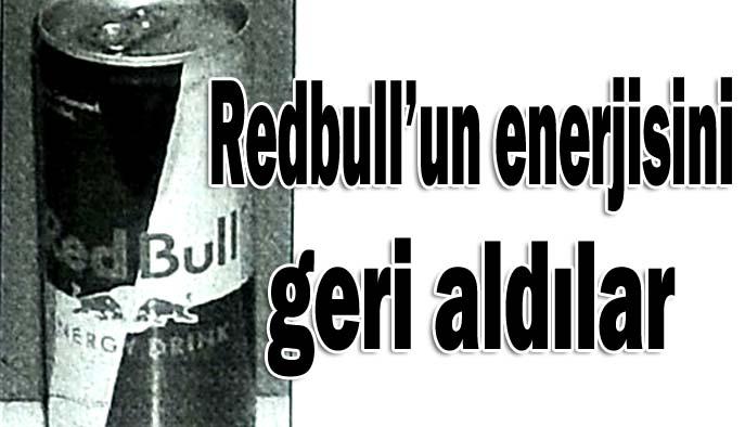 Redbull'un enerjisini geri aldılar