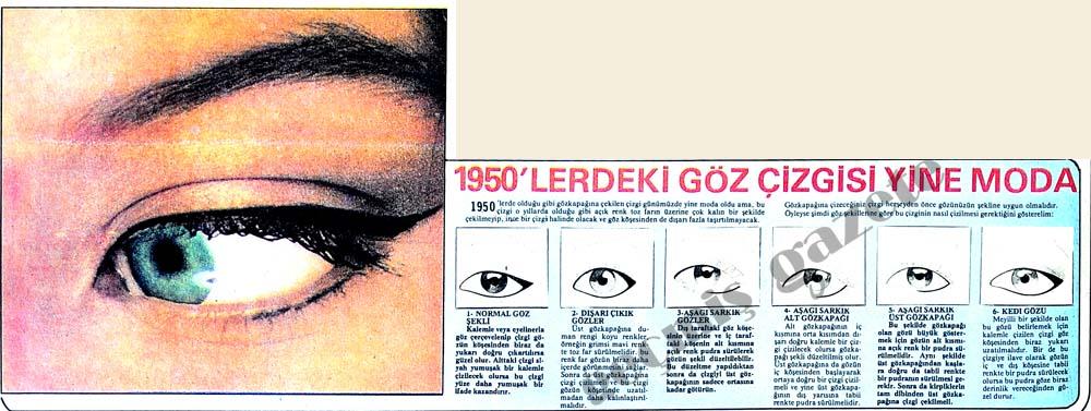 1950'lerdeki göz çizgisi yine moda