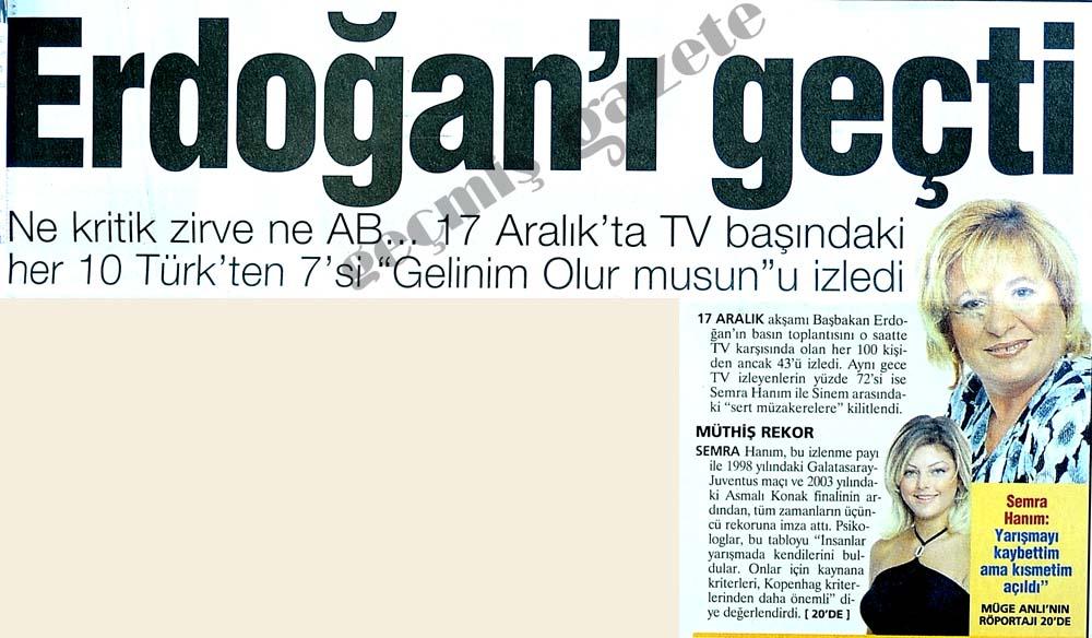 Erdoğan'ı geçti
