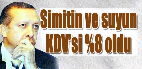 Simitin ve suyun KDV'si %8 oldu
