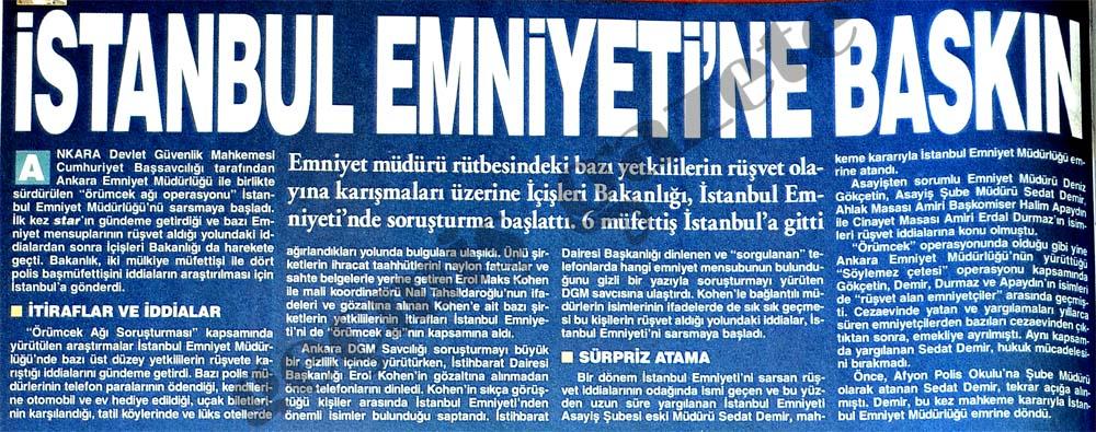 İstanbul Emniyeti'ne baskın