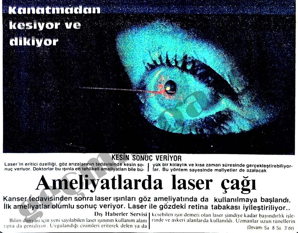 Ameliyatlarda laser çağı