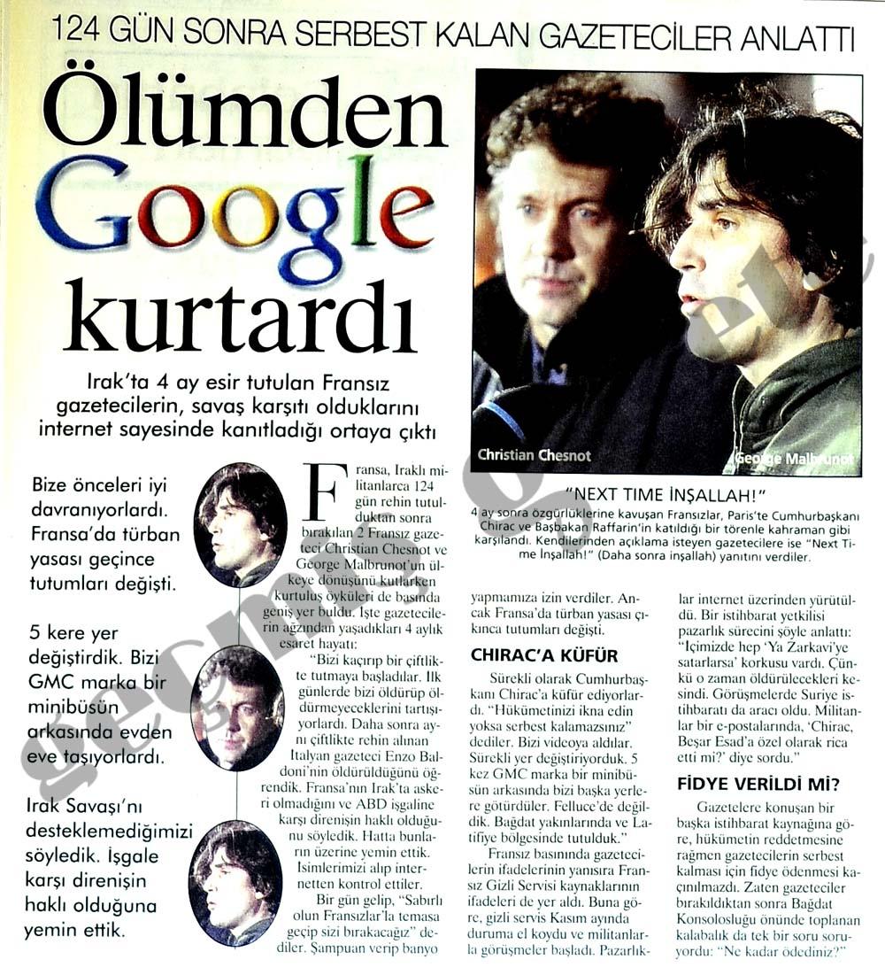 Ölümden Google kurtardı