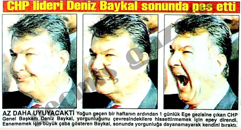 CHP lideri Deniz Baykal sonunda pes etti