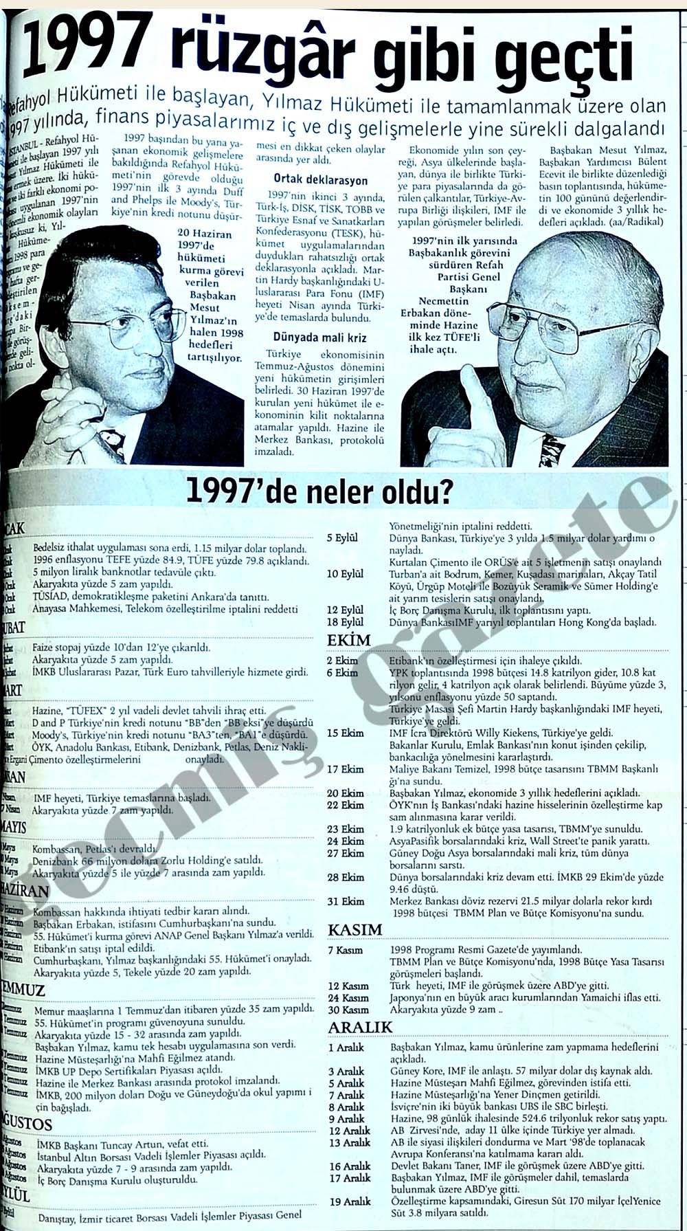 1997'de neler oldu