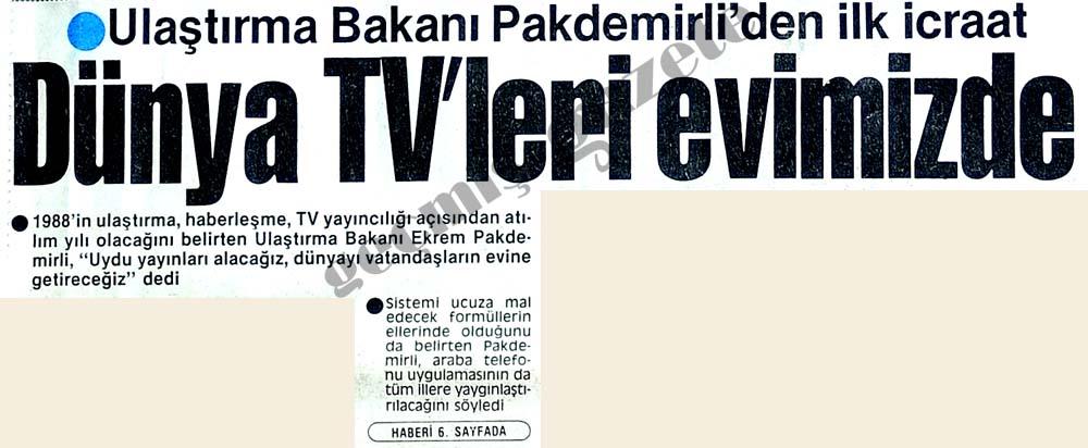 Dünya TV'leri evimizde