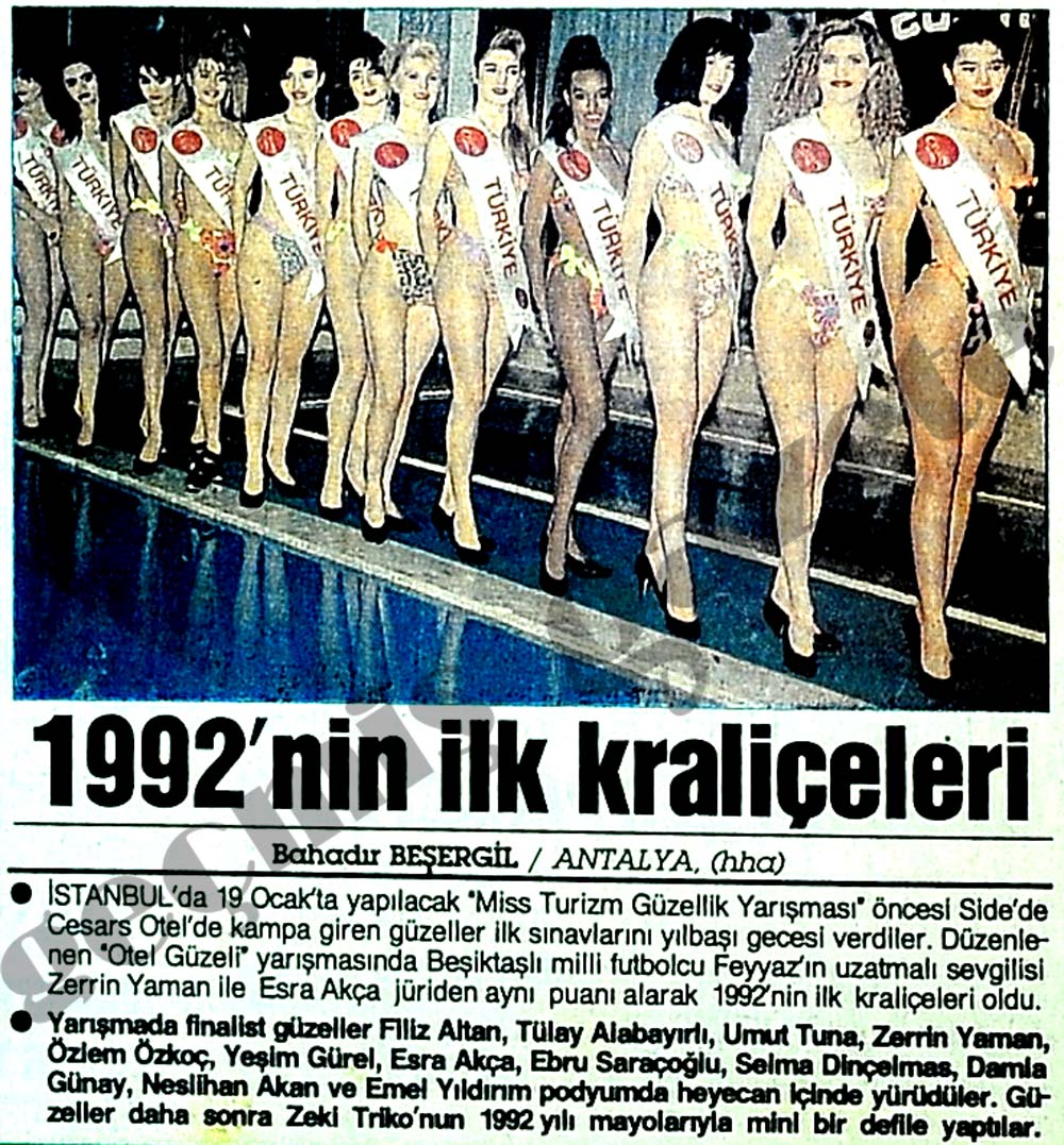 1992'nin ilk kraliçeleri