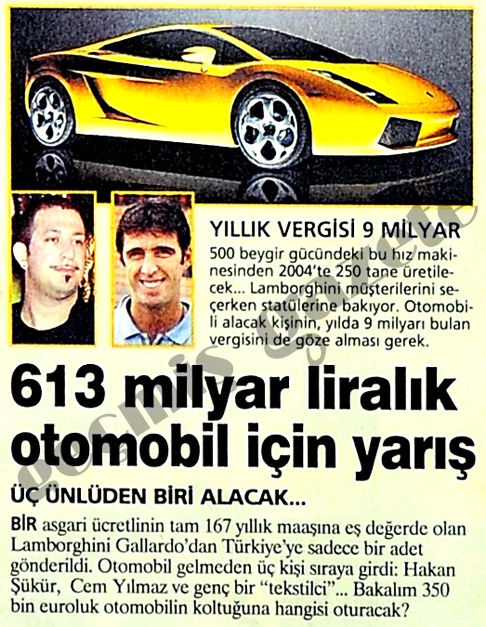 613 milyar liralık otomobil için yarış