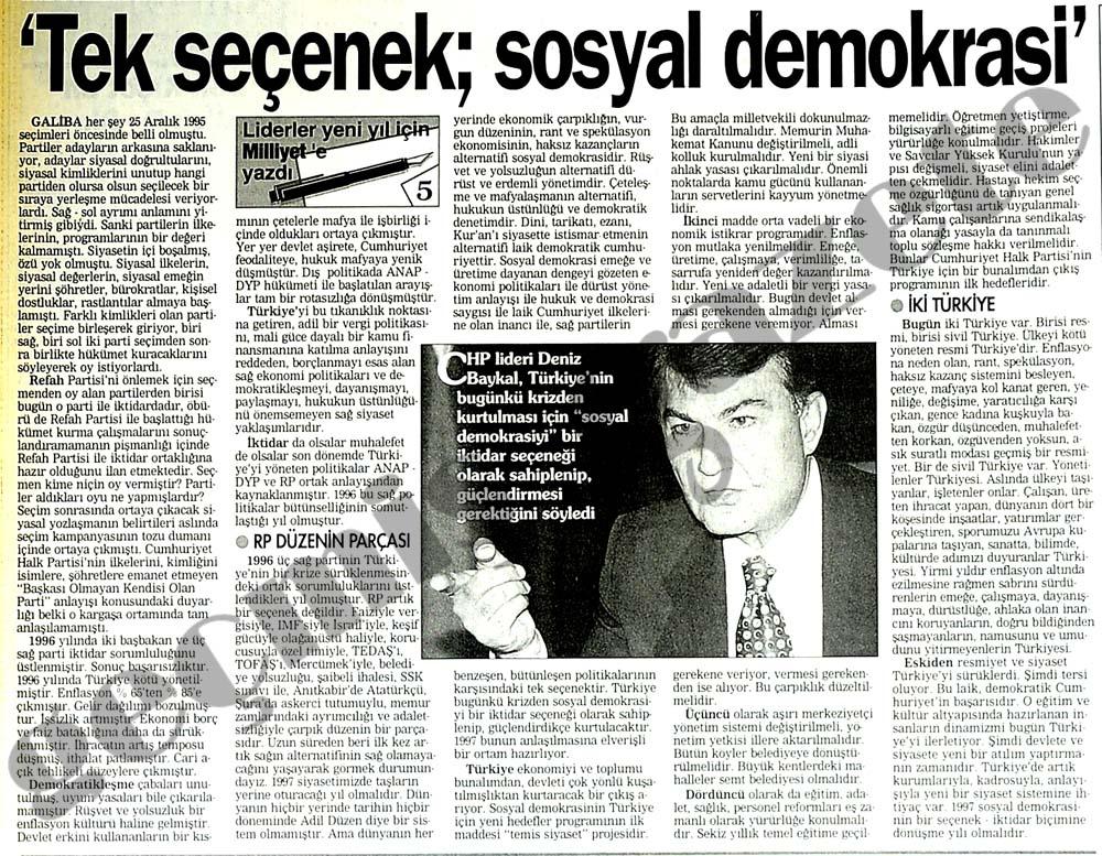 'Tek seçenek sosyal demokrasi'