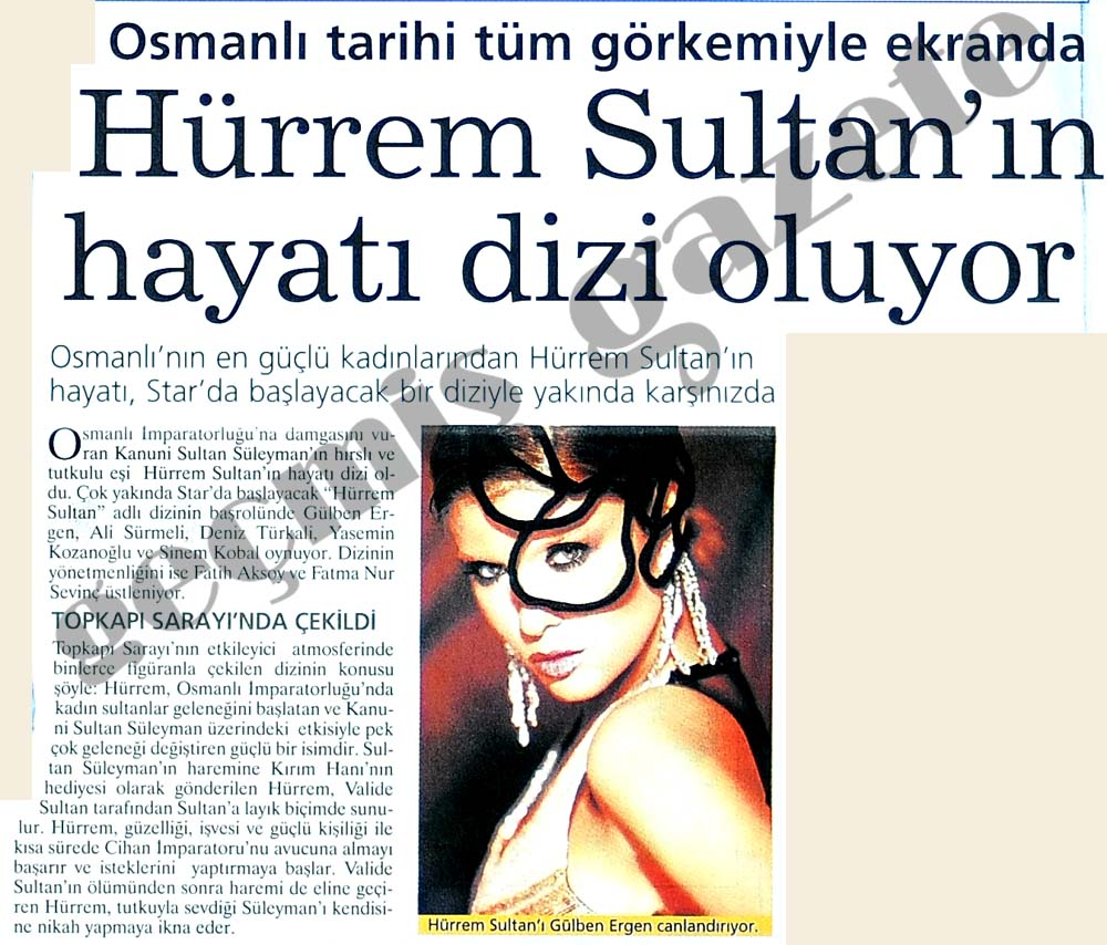 Hürrem Sultan dizi oluyor