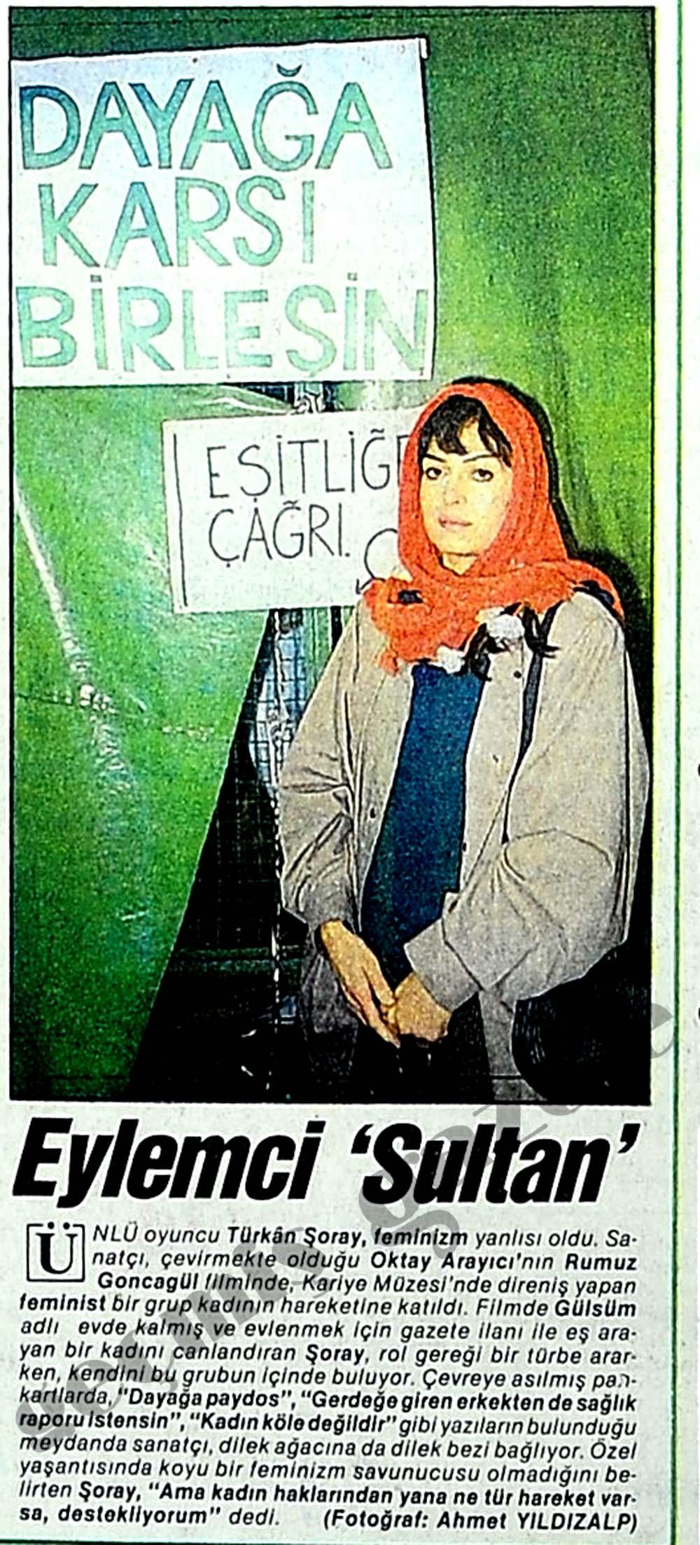 Eylemci 'Sultan'