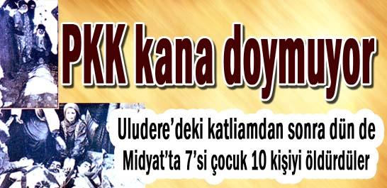 PKK kana doymuyor