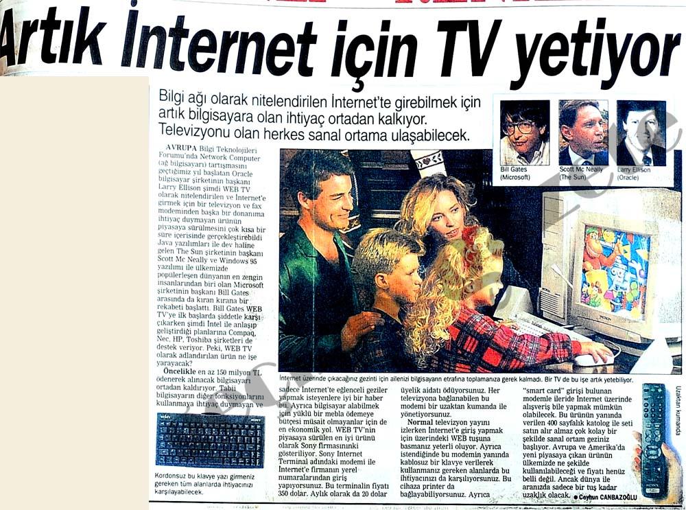 Artık internet için TV yetiyor