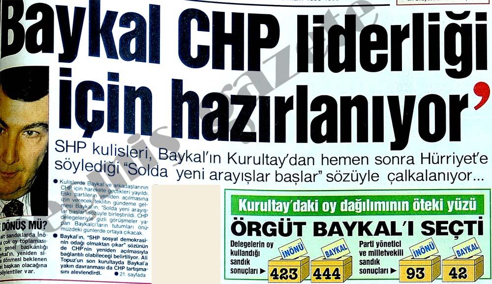 Baykal CHP liderliği için hazırlanıyor