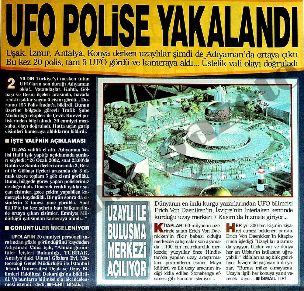 UFO polise yakalandı