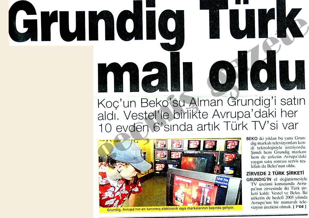 Grundig Türk malı oldu