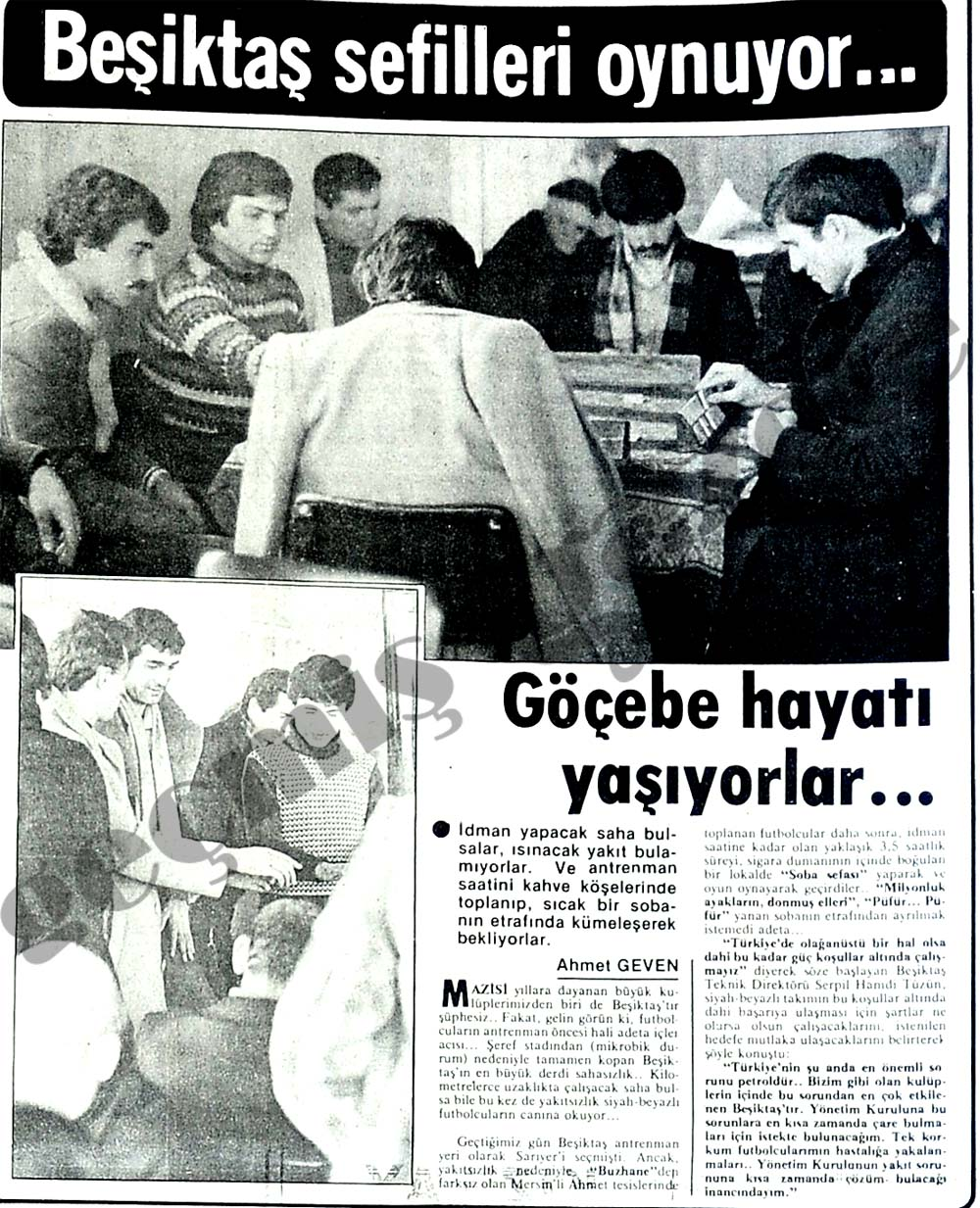 Beşiktaş sefilleri oynuyor