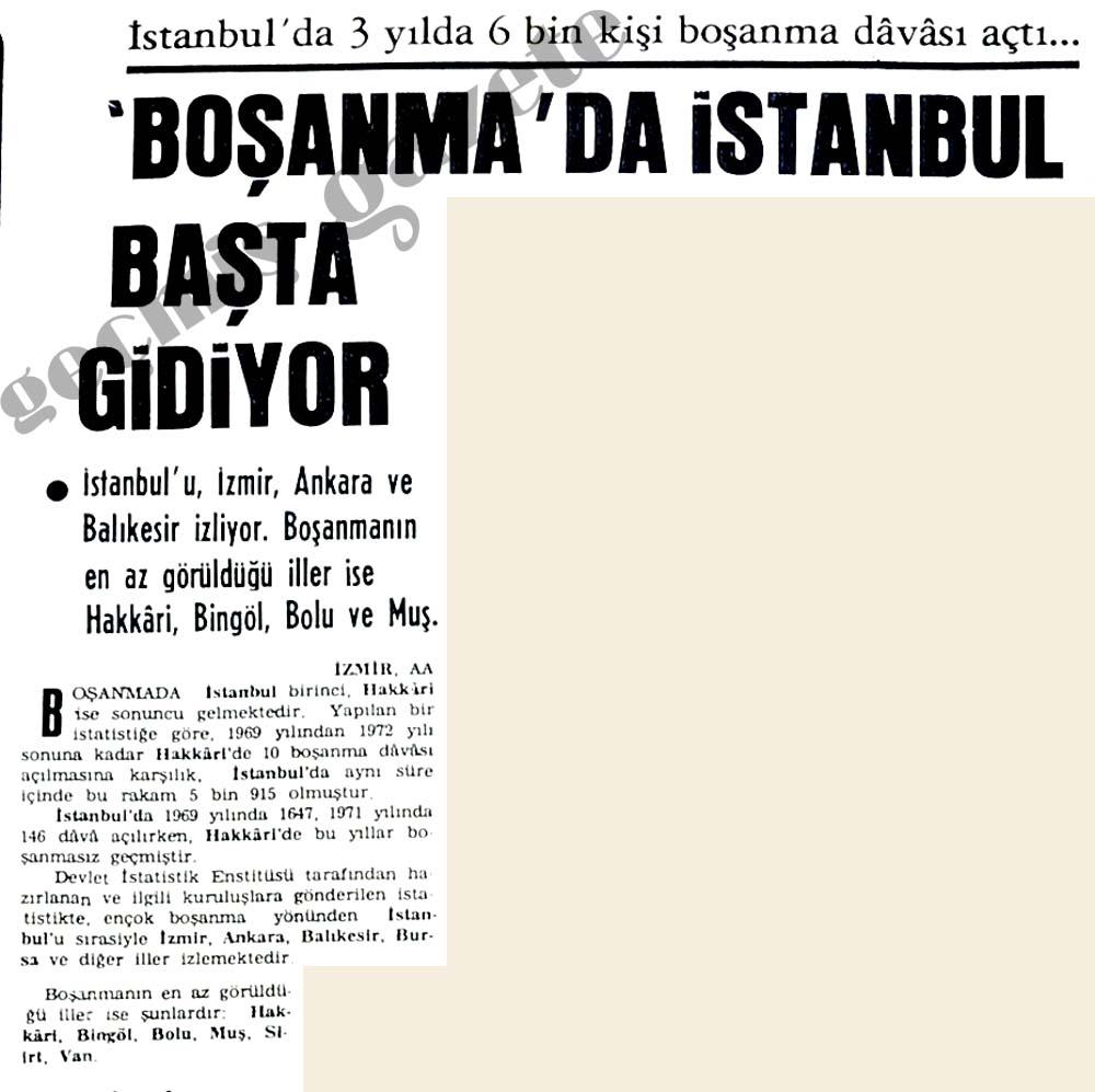 Boşanma'da İstanbul başta gidiyor