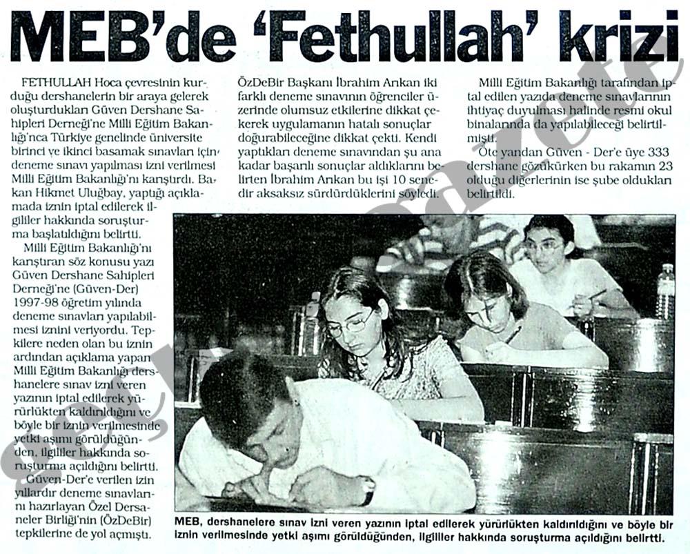 MEB'de 'Fethullah' krizi