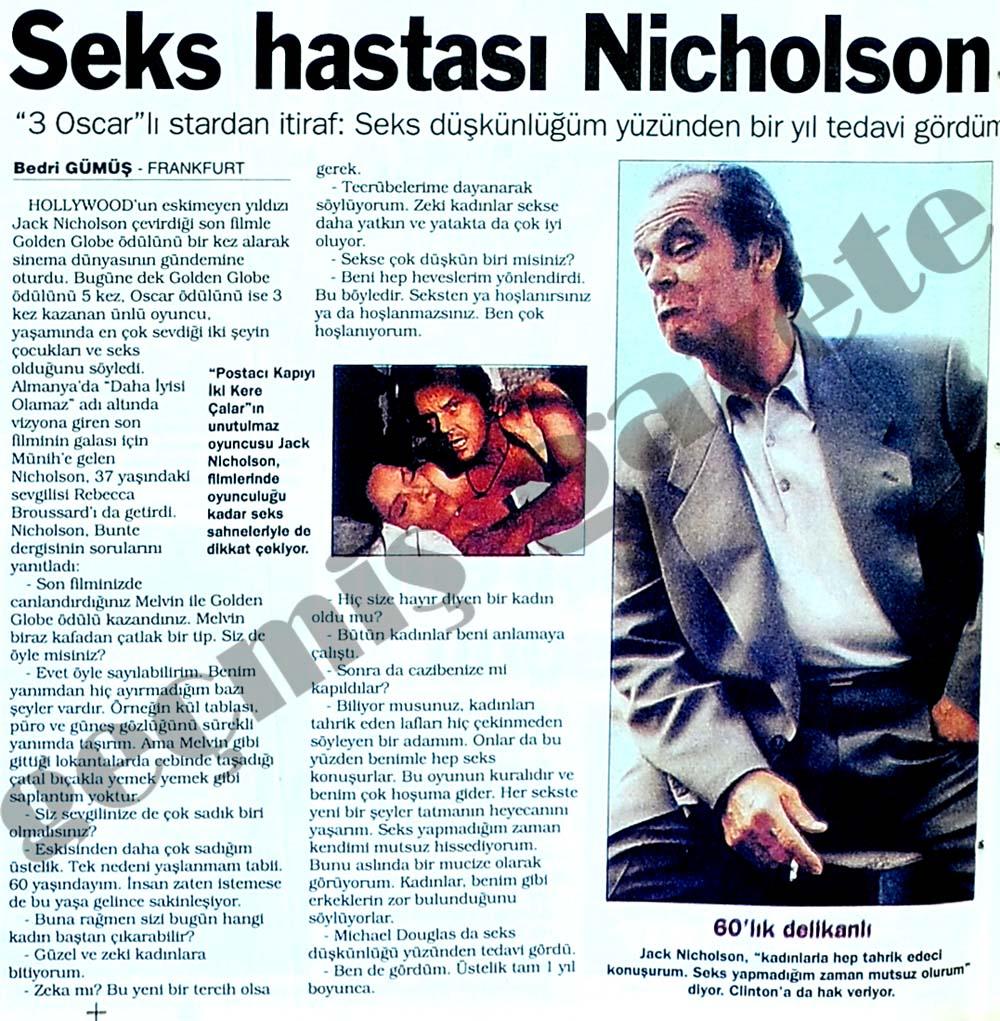Seks hastası Nicholson