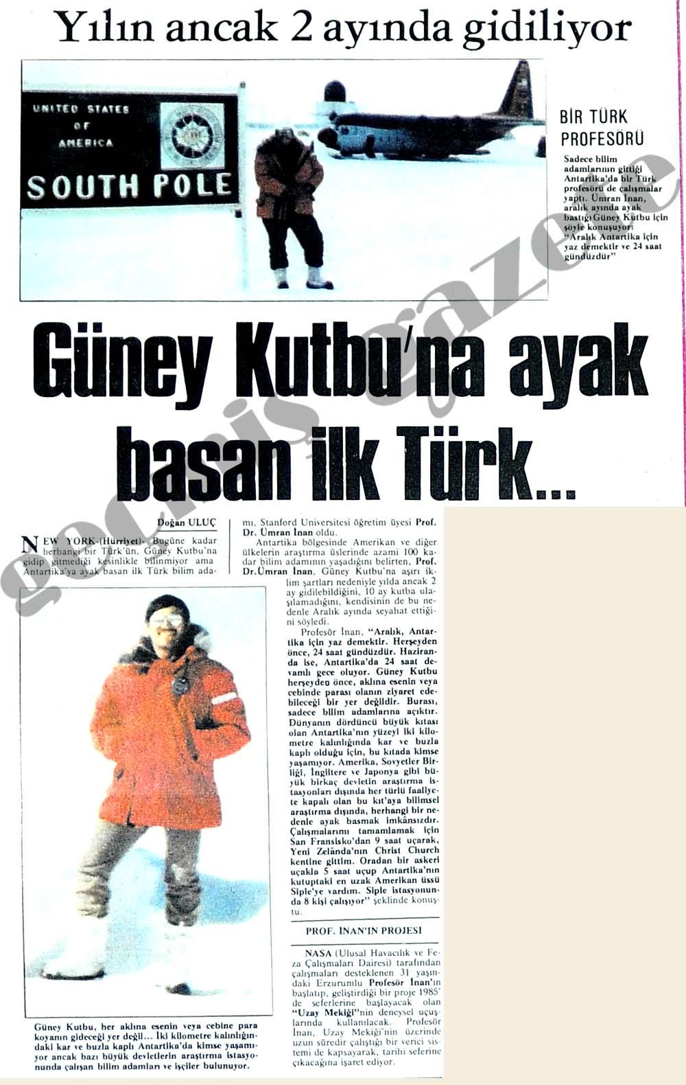 Güney Kutbu'na ayak basan ilk Türk...