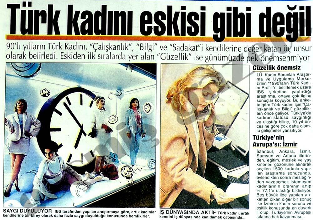 Türk kadını eskisi gibi değil
