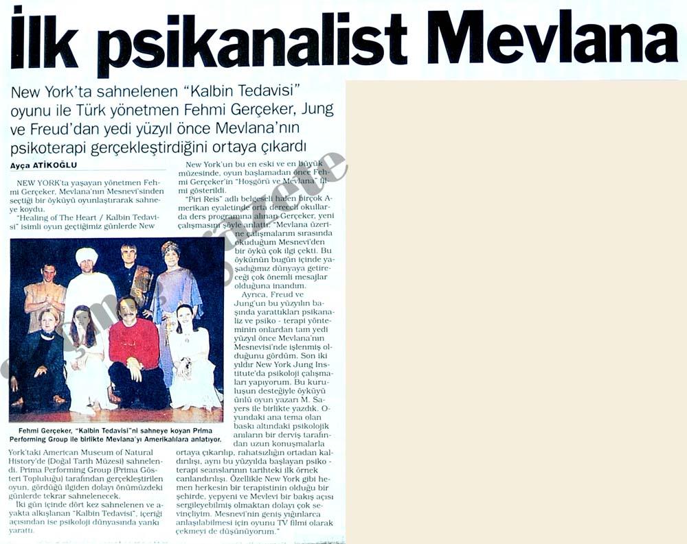 İlk psikanalist Mevlana