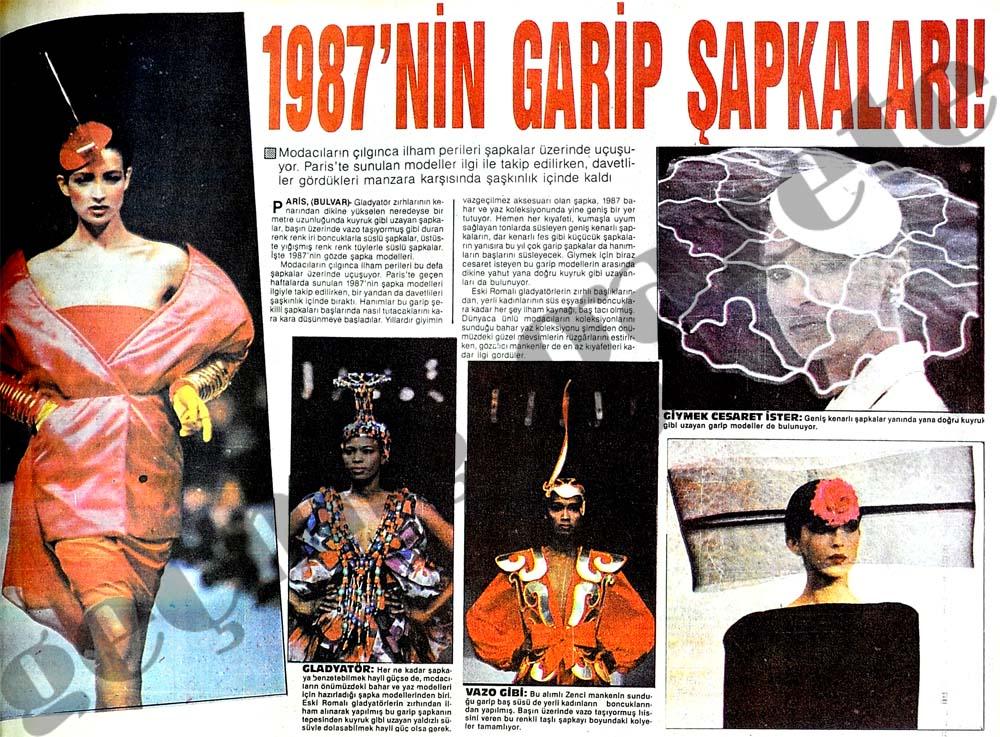 1987'nin garip şapkaları