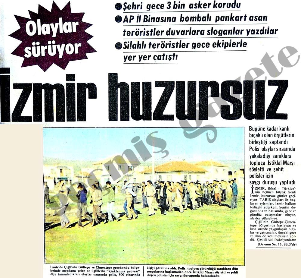 İzmir huzursuz