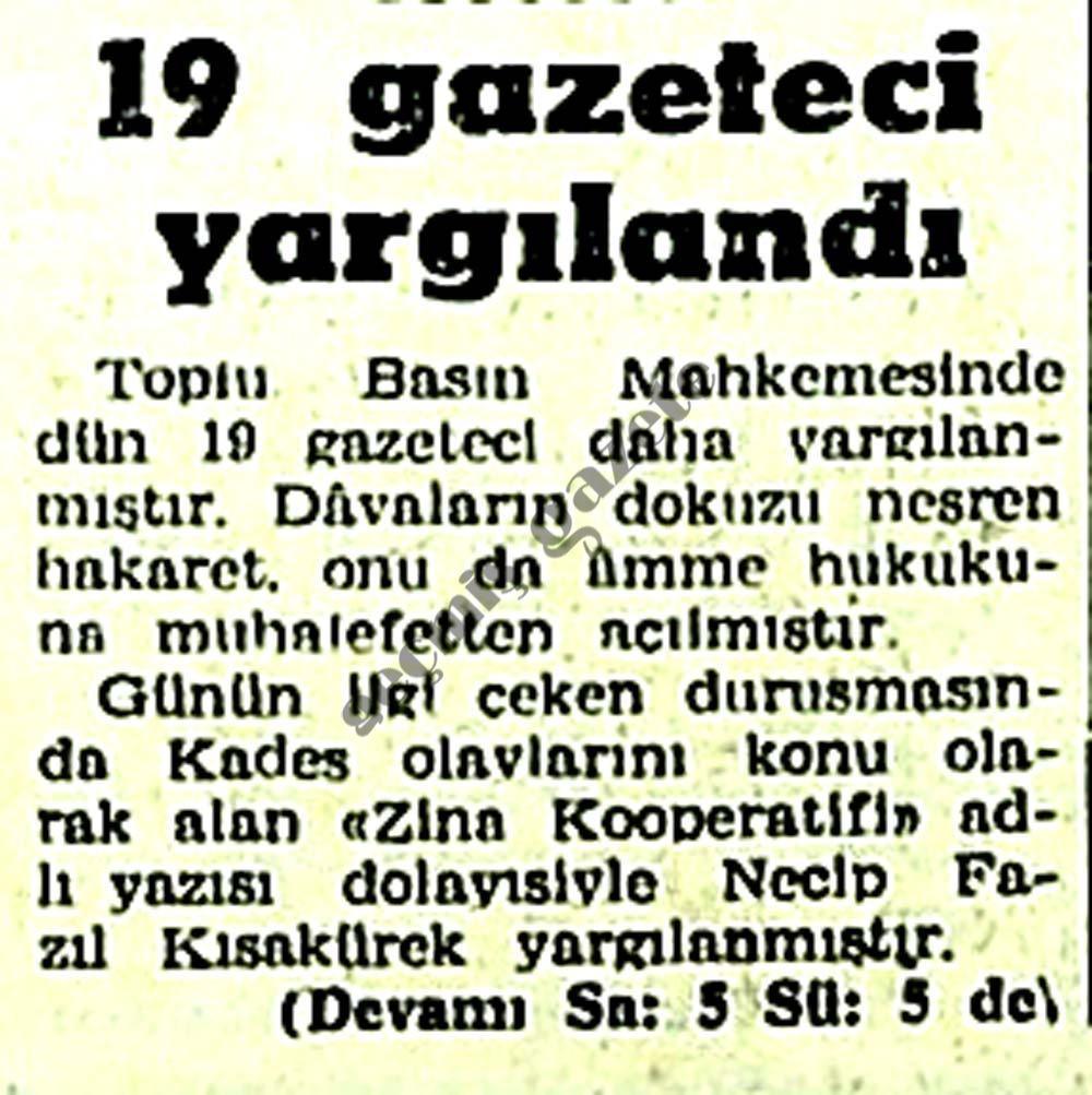 19 gazateci yargılandı