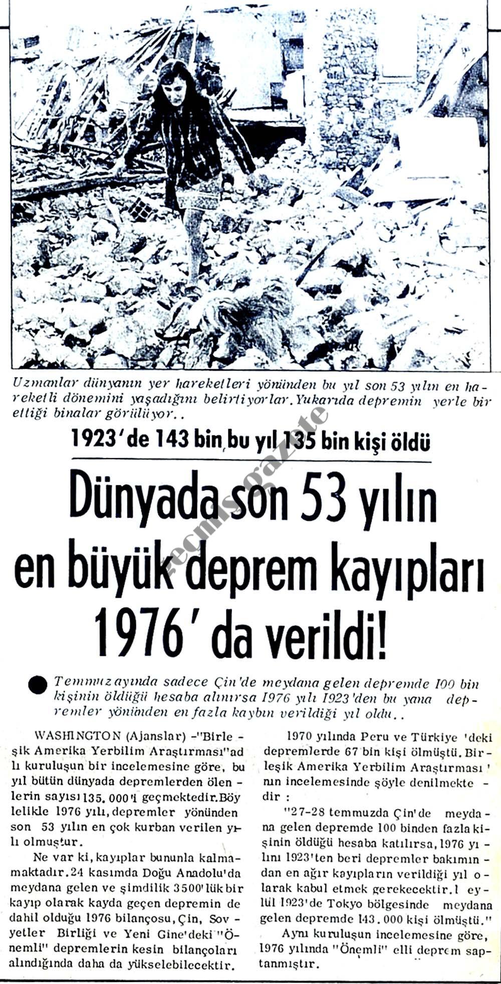 1923'de 143 bin bu yıl 135 bin kişi öldü