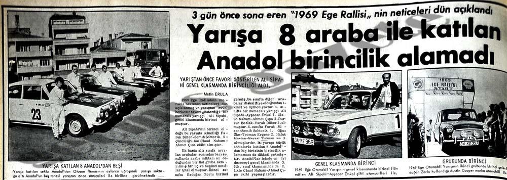 1969 Ege Rallisi'nin neticeleri açıklandı