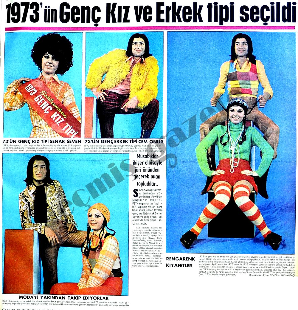 1973'ün Genç Kız ve Erkek tipi seçildi