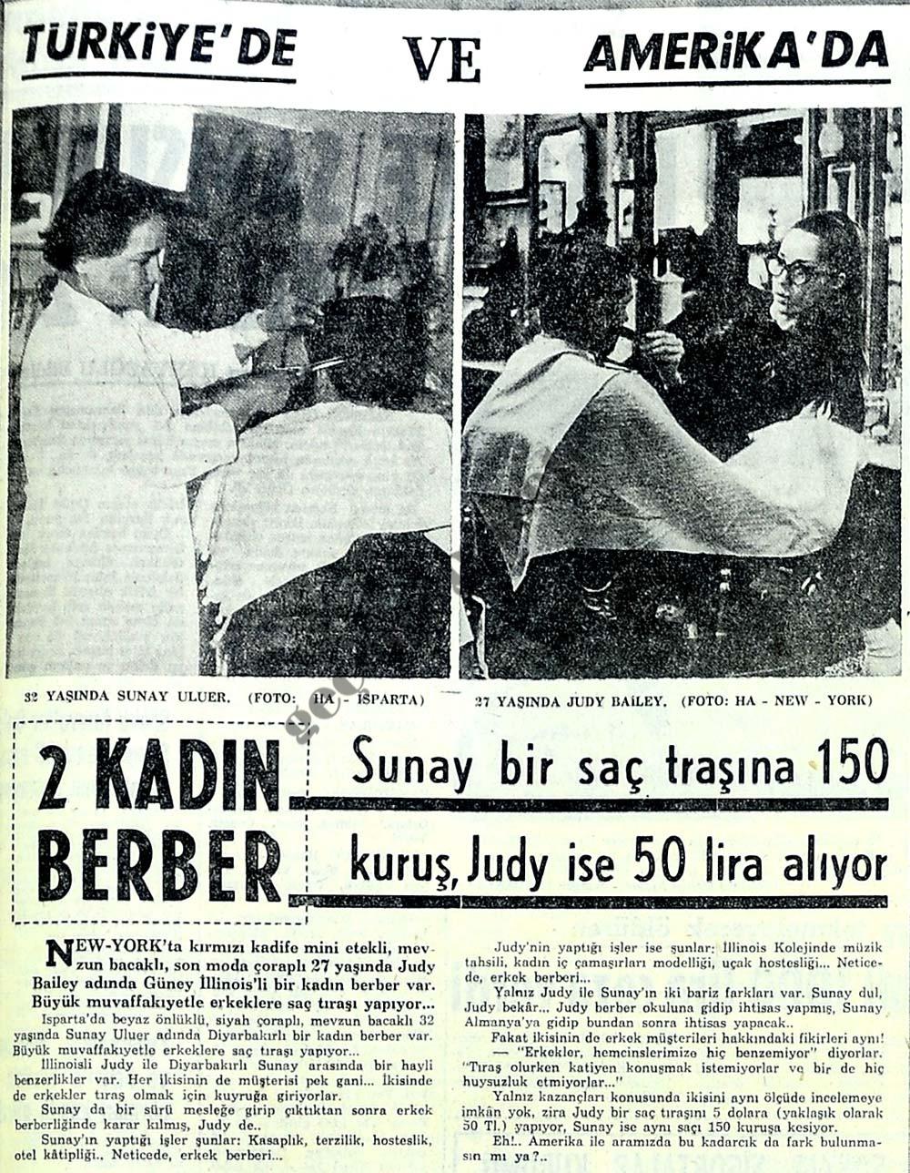 2 kadın berber