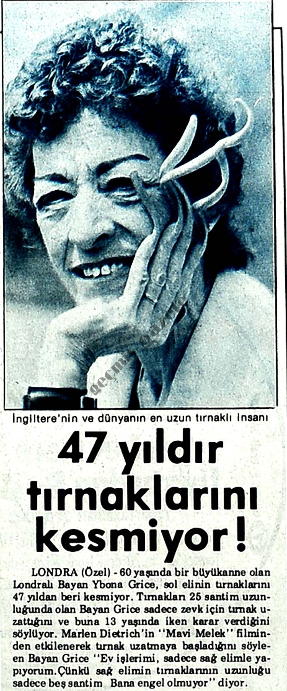 47 yıldır tırnaklarını kesmiyor!