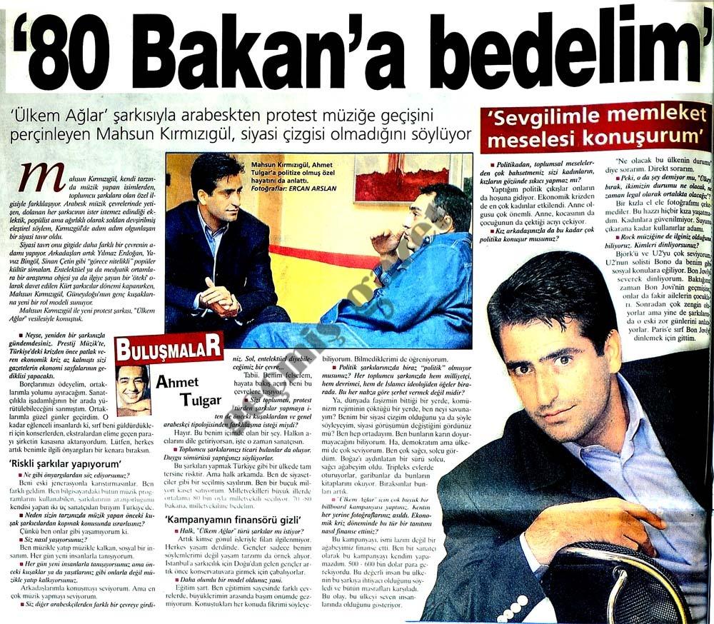 '80 Bakan'a bedelim'