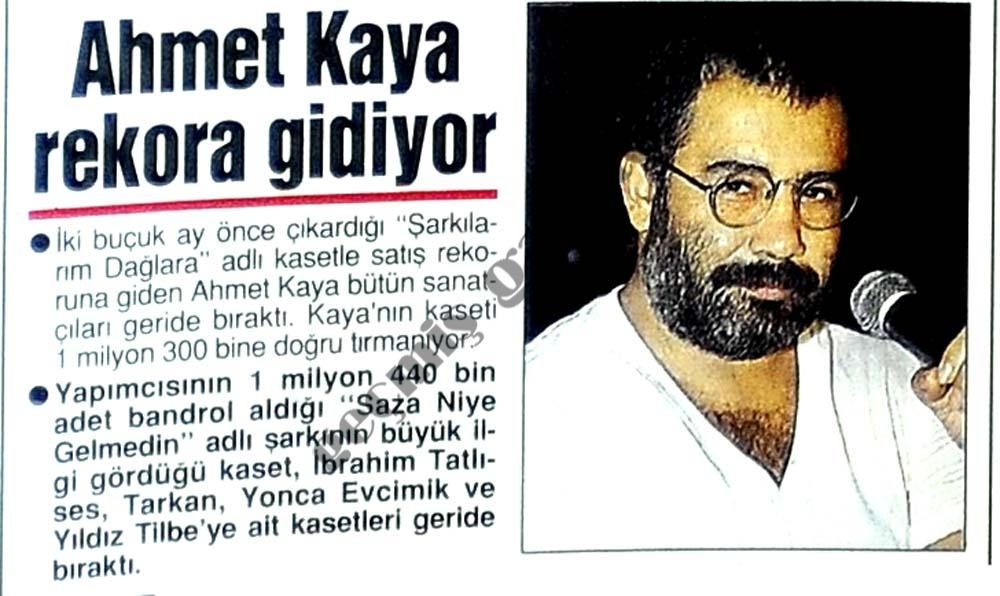Ahmet Kaya rekora gidiyor
