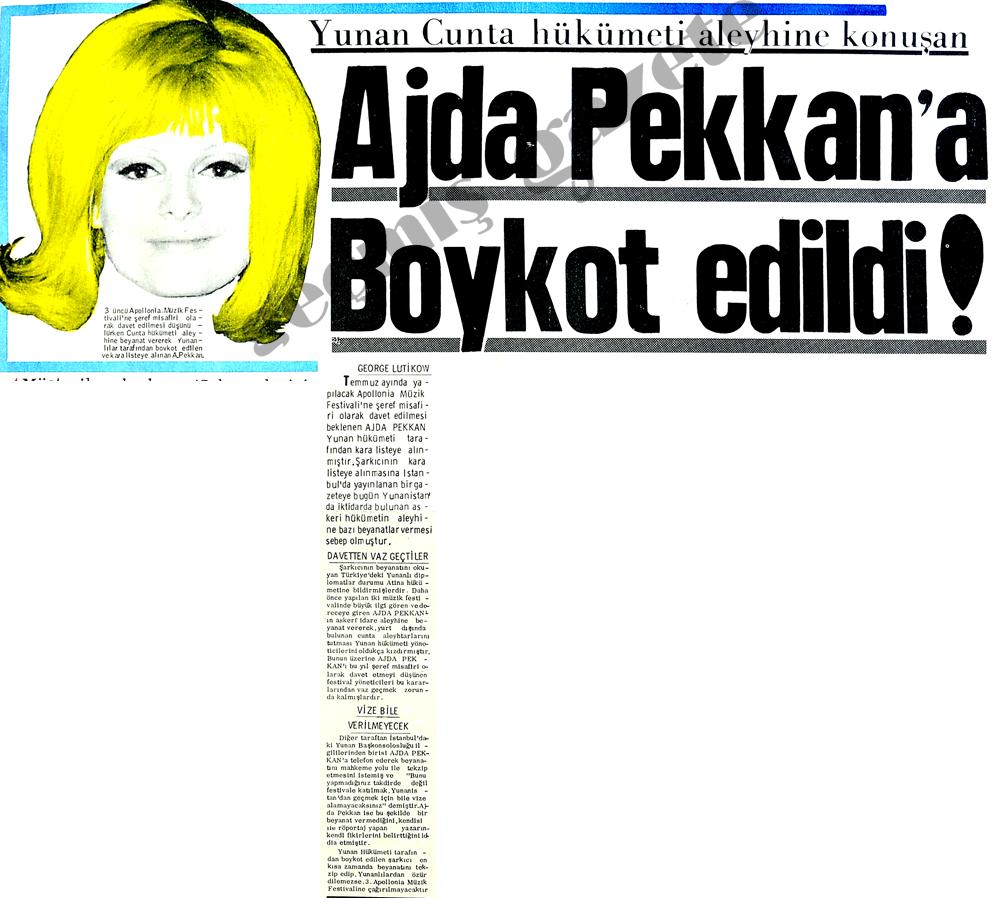 Ajda Pekkan'a boykot edildi!