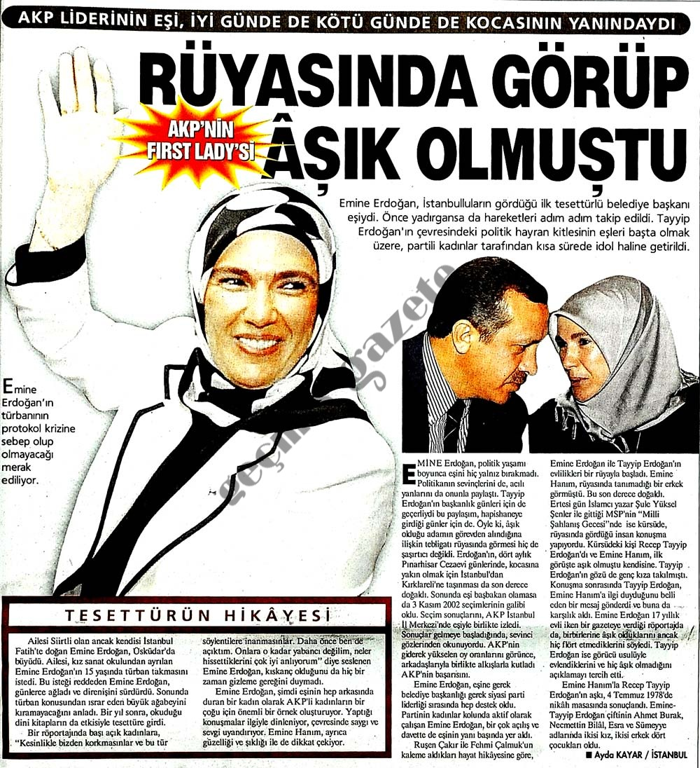 AKP'nin First Lady'si
