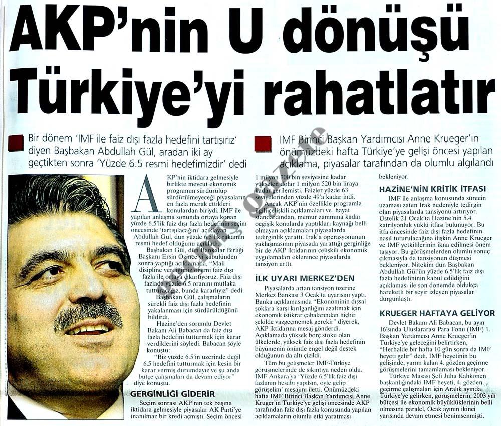 AKP'nin U dönüşü