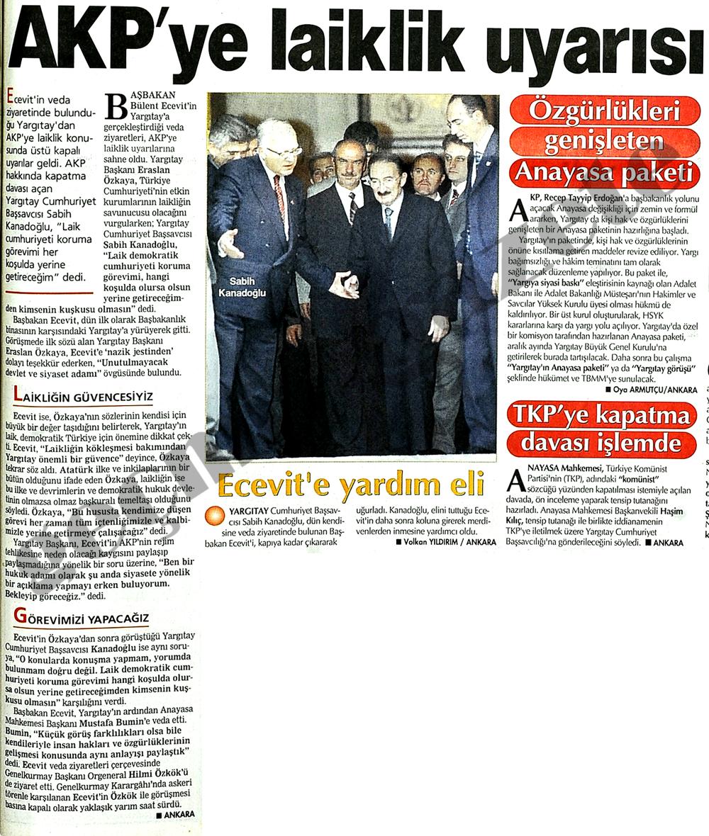 AKP'ye laiklik uyarısı