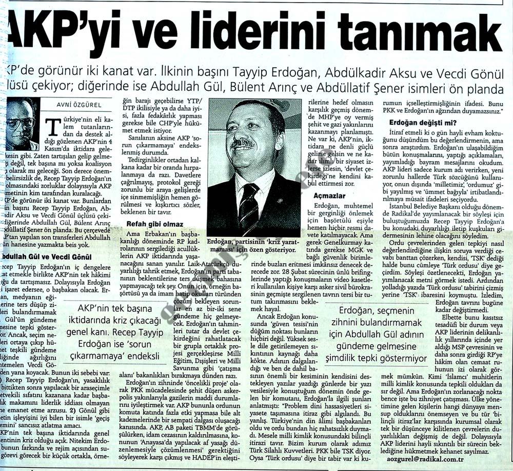 AKP'yi ve liderini tanımak