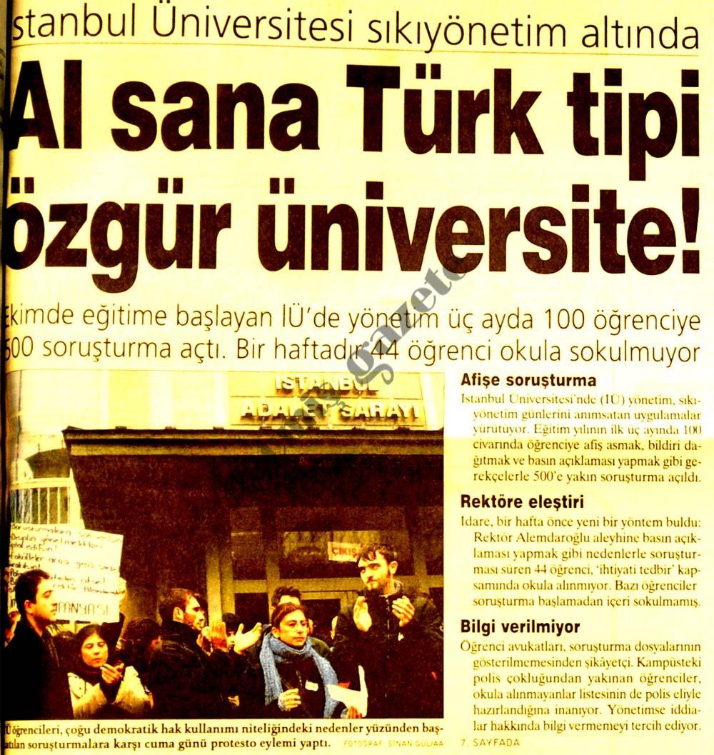 Al sana Türk tipi özgür üniversite