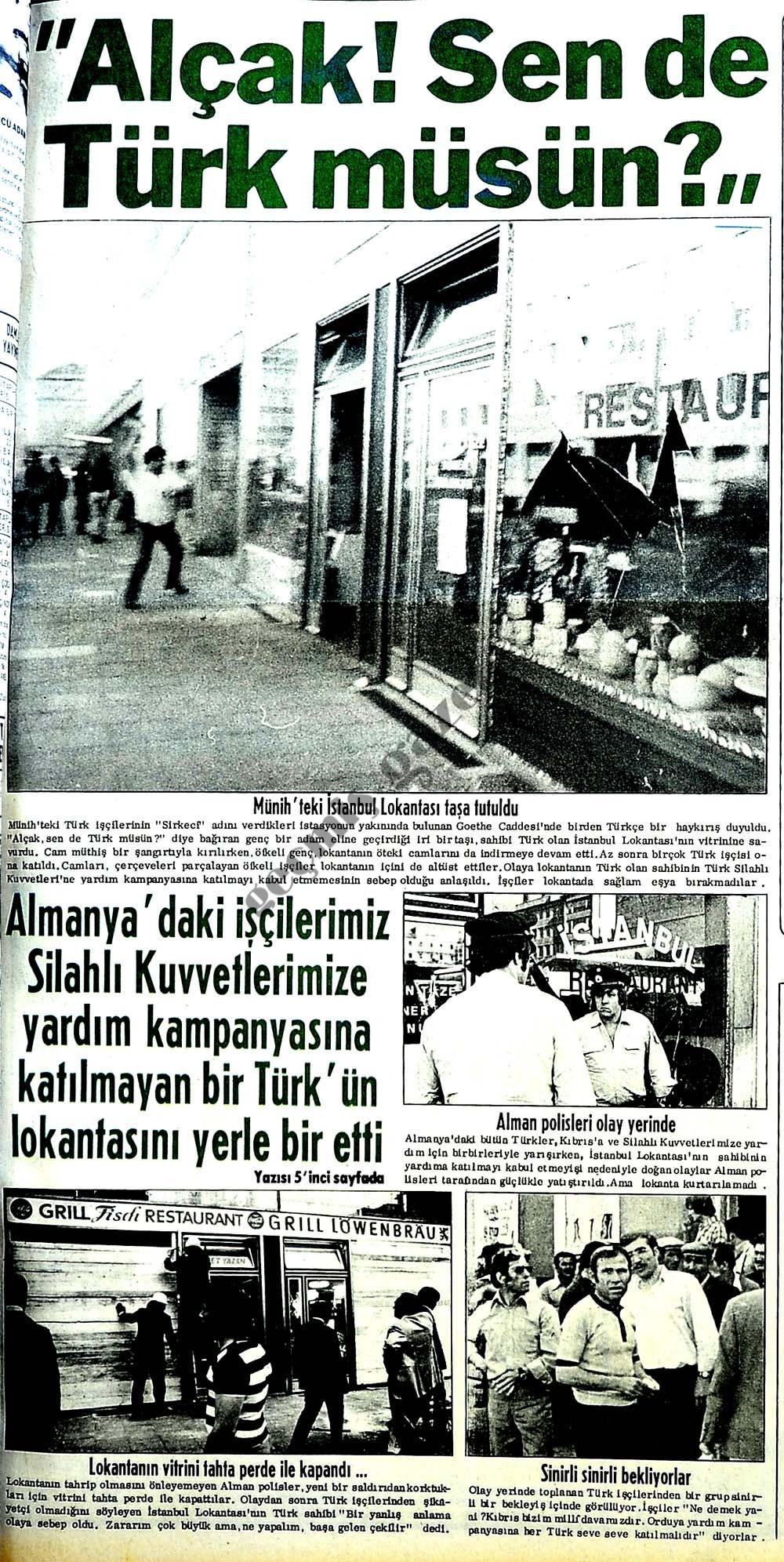 Alçak! Sen de Türk müsün?