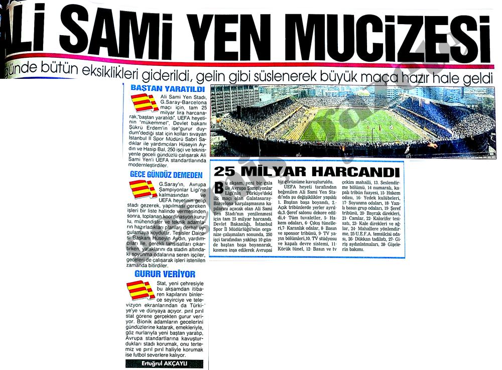 Ali Sami Yen mucizesi