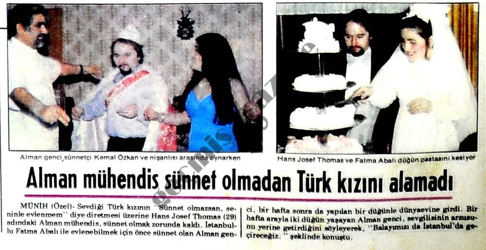 Alman mühendis sünnet olmadan Türk kızını alamadı