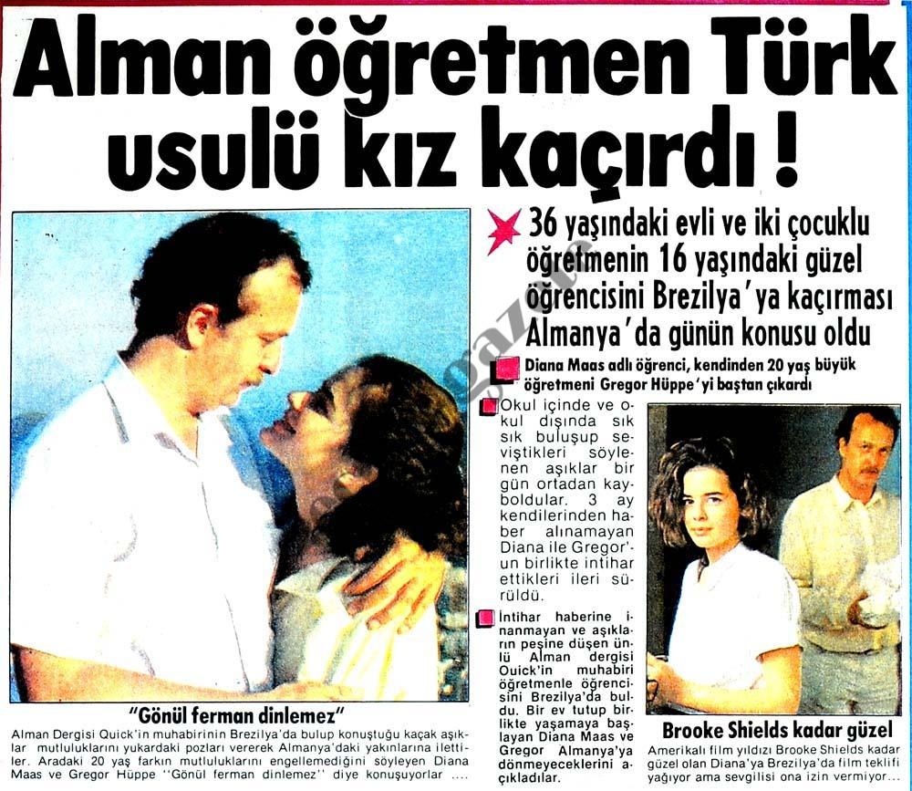 Alman öğretmen Türk usulü kız kaçırdı !