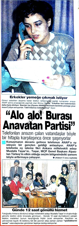 """Alo alo! Burası Anavatan Partisi"""